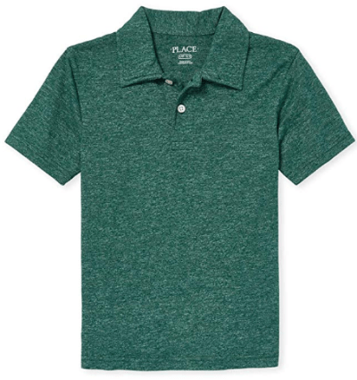 Amazon : The Children's Place Boys' Big Solid Short Sleeve Polo Shirt Just $4 (Reg : $5.50) (As of 10/13/2019 2.55 PM CDT)