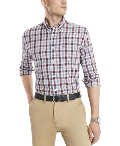 Tommy Hilfiger Men's Osbourne Classic-Fit Check Shirt for $52.13 (Reg $69.50)