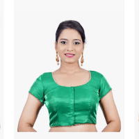 Amazon: Women's Banglori Silk Green Readymade Saree Blouse with Free Shipping
