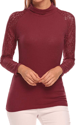 Amazon : Women's Lace Patchwork Tops Just $11.49 W/Code (Reg : $22.99) (As of 10/23/2019 6.12 PM CDT)