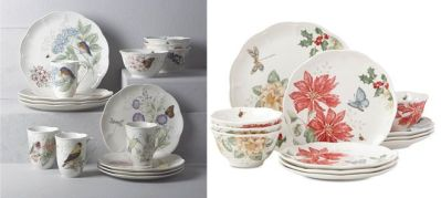 Lenox Butterfly Meadow 12-Piece Dinnerware Set Starting at $74.99 at Macy's (Reg $264)