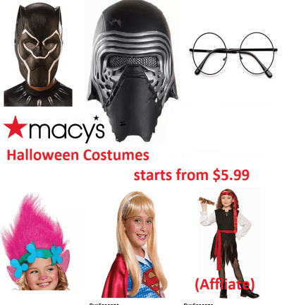 Halloween Costume Starts from $5.99 at Macy's (Affliate)
