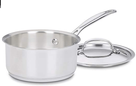 Chef's Classic Stainless 1-Quart Saucepan with Cover for $12.99 (reg: $35)