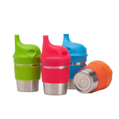 Stainless Steel Cups with Silicone Sippy Lids & Grips for Kids Toddlers Babies (8oz, 4-Pack) for $18.97 (reg: $31.97)