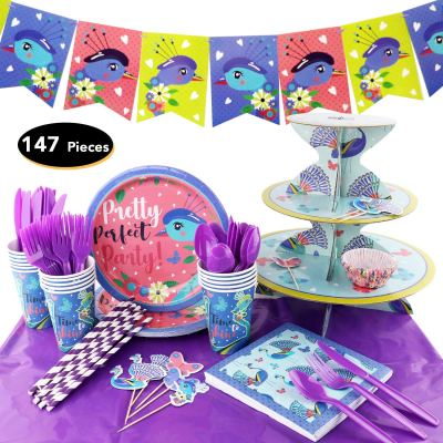 Amazon : 147Piece Peacock Birthday Party Set Just $9.20 W/Code (Reg : $22.99) (As of 11/22/2019 6.02 AM CST)