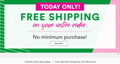 ULTA : Free Shipping With No Minimum! Today Only!