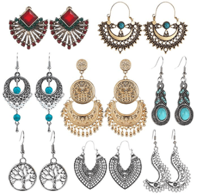 Amazon : 8 Pairs Bohemian National Style Jewelry Earrings Set Just $8.45 W/Code (Reg : $16.99) (As of 11/22/2019 5.36 AM CST)