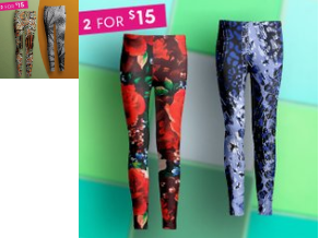 Zulily : Double Up On Leggings : 2 PAIRS OF LEGGINGS Just $15 - S-4X 1 for $11.99, 2+ $7.50 each!