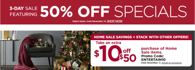Kohl's : 50% Off On Featured Items!!