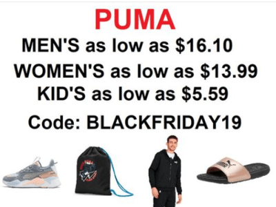 PUMA BLACK FRIDAY SALE!