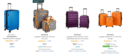 Amazon : Rockland Luggage Sale (As of 11/18/2019 9.14 PM CST)