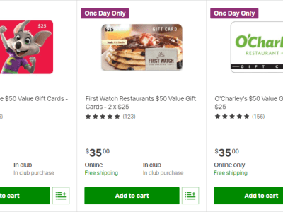 Today Only : DEALS ON GIFT CARDS & MORE!