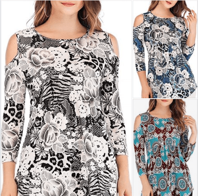 Amazon : Women's Cold Shoulder Tunic Tops Just $6.99 W/Code (Reg : $13.99) (As of 11/18/2019 8.43 PM CST)