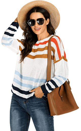 Amazon : Women's Striped Pullover Sweaters Just $13.99 W/Code (Reg : $27.99 ) (As of 11/21/2019 9.05 PM CST)
