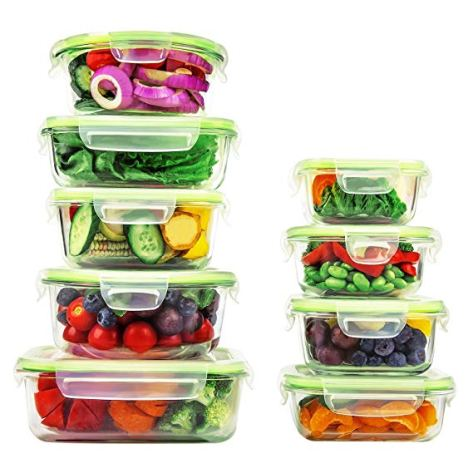 18 Piece Glass Food Storage Containers with Locking Lids  for $24.99 w/code