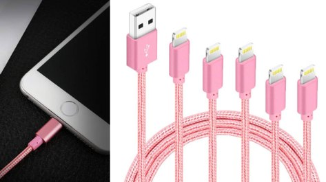 iPhone Fast-Charging 5-Pack Lightning Cable ONLY $9.99 at Amazon (Regularly $20)