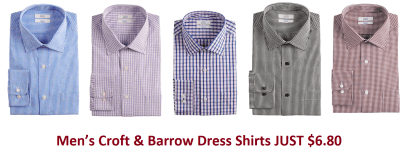 Men's Croft & Barrow Dress Shirts JUST $6.80 Each (Regularly $32) – Black Friday Price!
