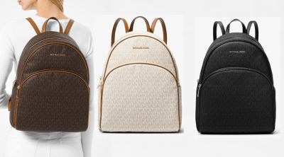 Michael Kors : Abbey Large Logo Backpack $149 (Regular $398)!