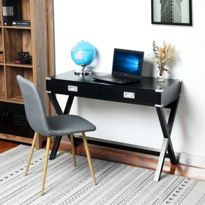Modern Computer Desk with Metal Decoration for $134.99 w/code & 5% coupon clip