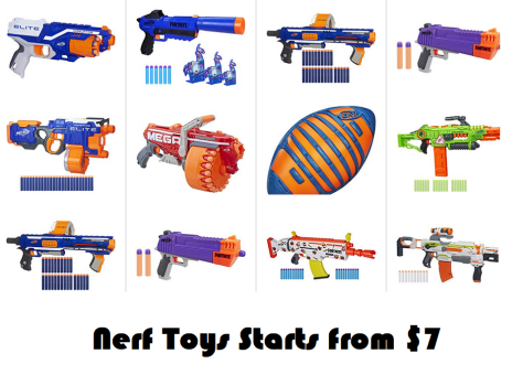 Deal of the Day : Nerf Toys starts from $7