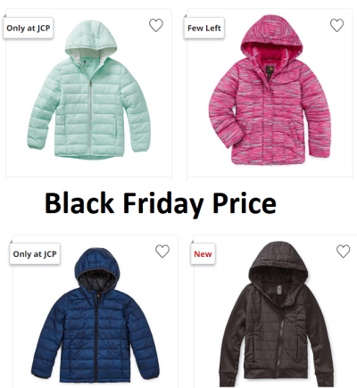 Puffer Jackets for the Family at JCPenney – Starts at ONLY $17.59 (Black Friday Price!)