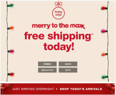 TJMaxx : Today Only - Free Shipping!!