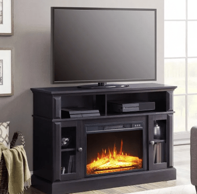 "Whalen Barston Media Fireplace for TV's up to 55"", Multiple Finishes for $229 (reg: $329)"