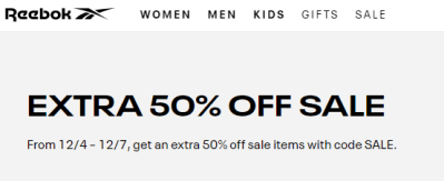 Reebok : Additional 60% Off on top of SALE items!