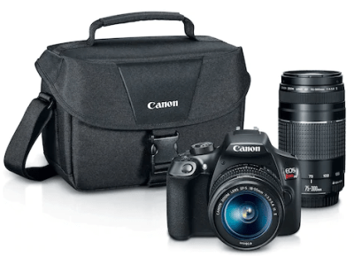 Kohl's : T6 DSLR Camera with EF-S 18-55mm + EF 75-300mm Lenses - 18-Megapixel Sensor JUST $399 + $80 Kohl's Cash (Green Monday Deal!)