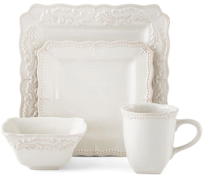 Jcpenney : 16-pc. Square Dinnerware Set Just $35.69 W/Code (Reg : $41.99)