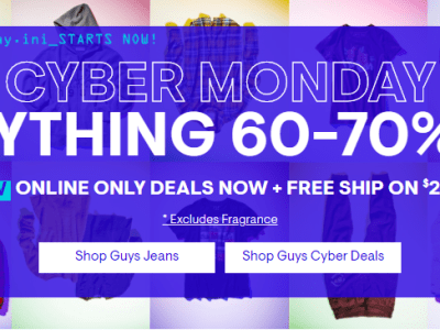 Aeropostale : Cyber Monday Sale: Up To 60-70% Off Everything!