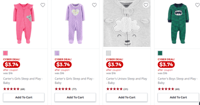 Jcpenney : Carters Sleep N Play Just $3.74!