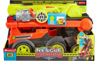 Fisher-Price Rescue Heroes Transforming Fire Truck ONLY $24.97 at Walmart (Reg $50)