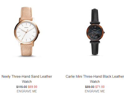 Fossil : Watches From $37 W/Code + Free Shipping.