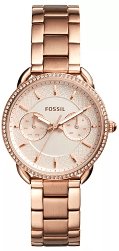 Macy's : Fossil Women's Tailor Rose Gold-Tone Stainless Steel Bracelet Watch 35mm Just $98.81 W/Code (Reg : $155)