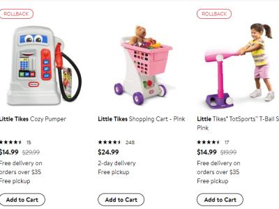 Walmart : Little Tike's Toy Sale!