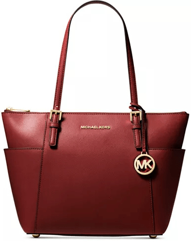 Macy's : MICHAEL Michael Kors Jet Set Large Crossgrain Leather Tote Just $99 (Reg : $198)