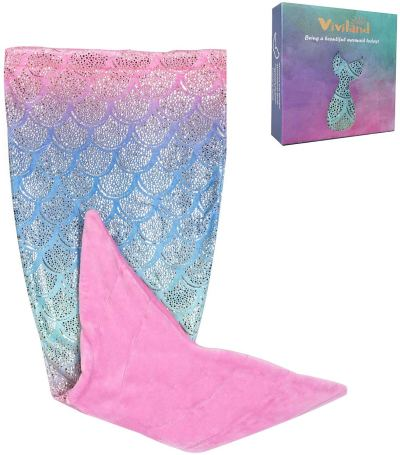 Amazon : Mermaid Tail Blanket Just $4.56 W/Code (Reg : $59.99) (As of 12/26/2019 8.20 AM CST)