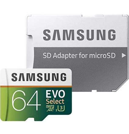 Samsung 64GB 100MB MicroSDXC Memory Card with Adapter Now $10.99