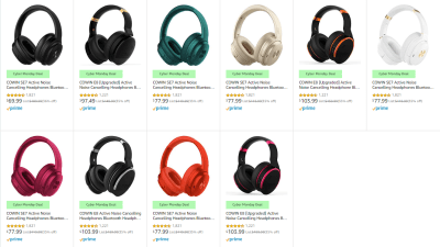 Amazon : SAVE UP TO 36% ON COWIN HEADPHONES Just STARTING AS LOW AS $69.99 (Reg : $69.99 - $103.99) (As of 12/02/2019 3.11 PM CST)