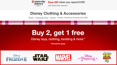 Target : Disney Kids' Apparel & Accessories From $2.33 Each (Reg $5) – Ends Today!