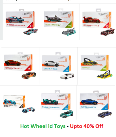 Save up to 40% off on Hot Wheels id toys at Amazon