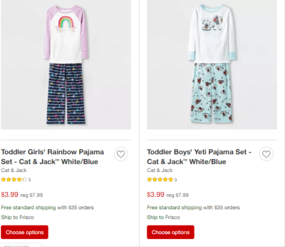 Target : Kids Pajamas and Slippers From $3.99!