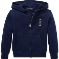 Macy's: Macy's: Polo Ralph Lauren Little Boys Polo Bear Fleece Hoodie For $14.93 (Was $45) + Free Store Pickup.