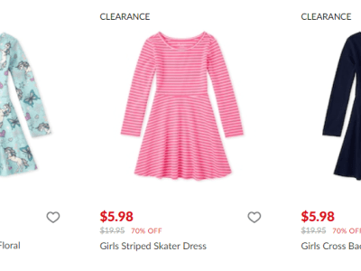 The Children's Place : 70% Off Dress Clearance From $5.08!