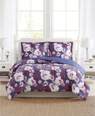 MACY'S: Pem America Bloomy Reversible Comforter Mini Set, JUST $19.99 (Reg $80.00)