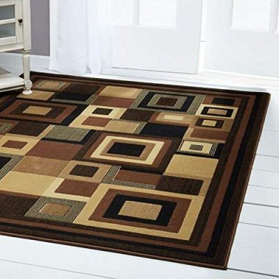 """Amazon : Abstract Area Rug, Geometric Black/Brown 5'3""""x7'2"""" Just $42.99 (Reg : $84.99) (As of 1/24/2020 6.25 PM CST)"""