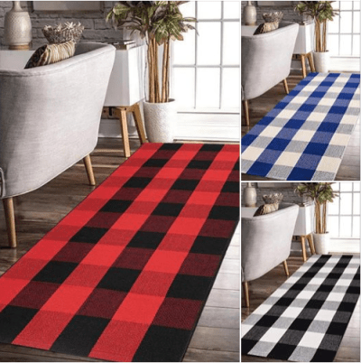 Amazon : Buffalo Plaid Rug Black and White Cotton Just $17.99 to $64.49 W/Code (Reg : $58.99) (As of 1/27/2020 7.49 PM CST)