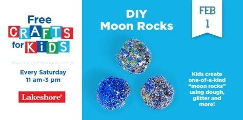 DIY Moon Rocks Crafts at Lakeshore Learning Saturday