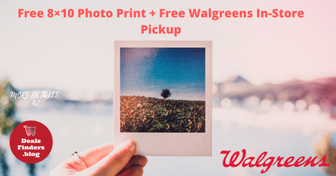 Free 8×10 Photo Print + Free Walgreens In-Store Pickup